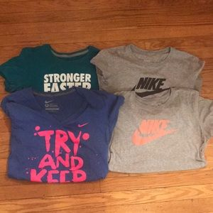 Bundle of 4 Nike short sleeve dri-fit t-shirts